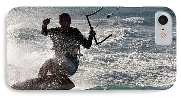 Kite Surfer 01 Phone Case by Rick Piper Photography