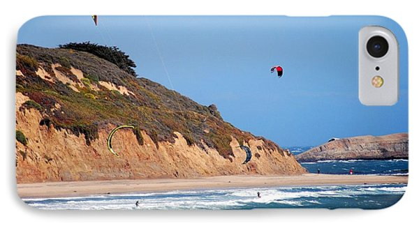 Kite Surfers IPhone Case by Bob Wall