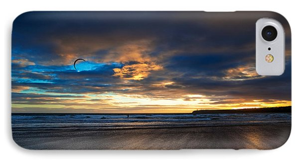 Kite Surfers On Tramore Beach IPhone Case by Panoramic Images