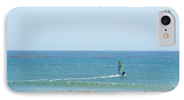 Kite Surfing And Wind Surfing Central Coast San Simeon California Phone Case by Artist and Photographer Laura Wrede