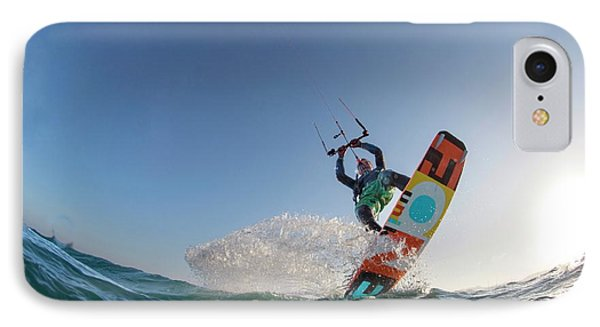 Kite Surfing IPhone Case by Louise Murray