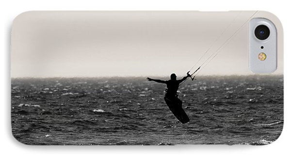 Kite Surfing Pose IPhone Case by Dan Sproul