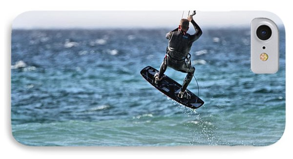 Kite Surfing Take Off IPhone Case by Dan Sproul