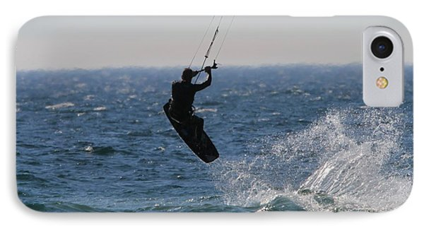 Kite Surfing Wakeboard IPhone Case by Dan Sproul