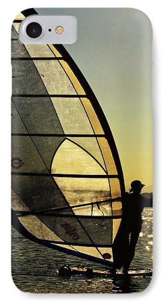 IPhone Case featuring the photograph Kiteboarder Sunset by Sonya Lang