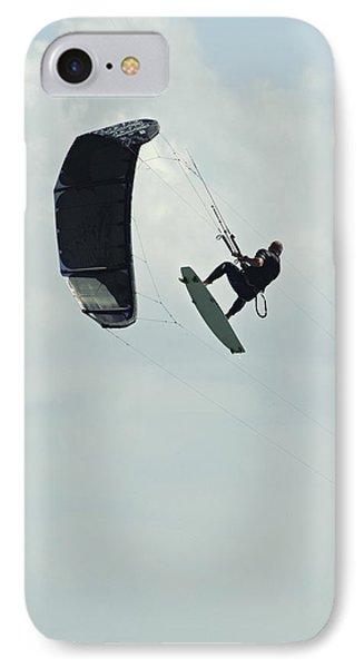 Kitesurfer In Mid-air IPhone Case