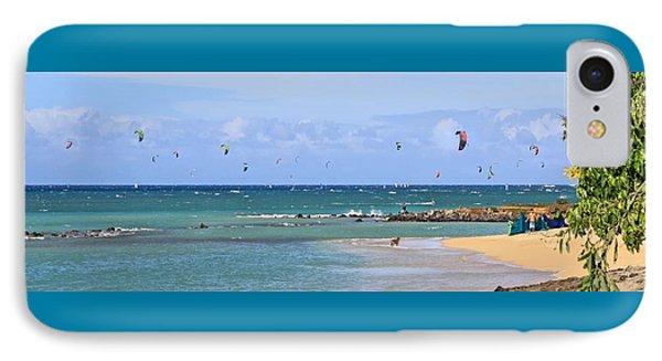 Kitesurfin Kanaha Beach IPhone Case
