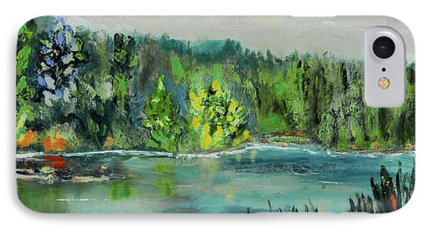 IPhone Case featuring the painting Kittatiny Pond by Michael Daniels