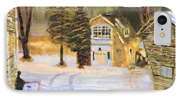 IPhone Case featuring the painting Kittattiny Park Ranger Residence by Michael Daniels