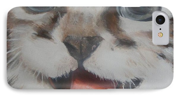 IPhone Case featuring the painting Kitten by Cherise Foster