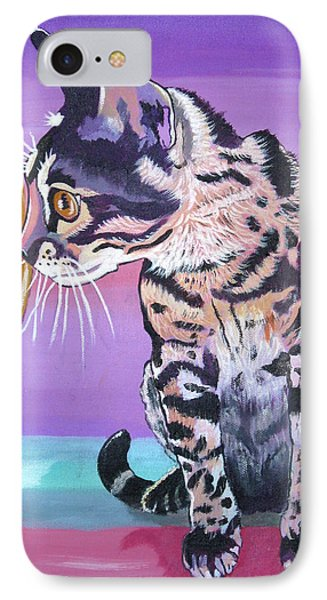 IPhone Case featuring the painting Kitten Image by Phyllis Kaltenbach