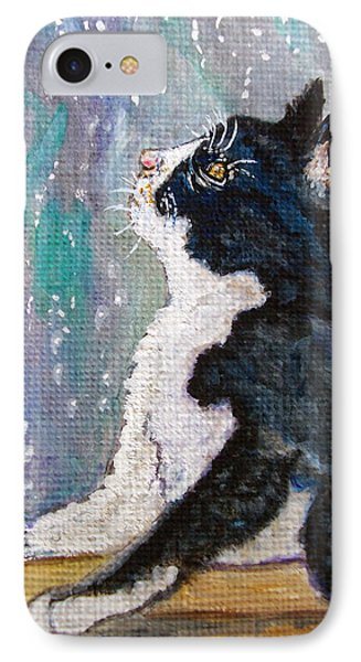 IPhone Case featuring the painting Kitten In The Window by Ella Kaye Dickey