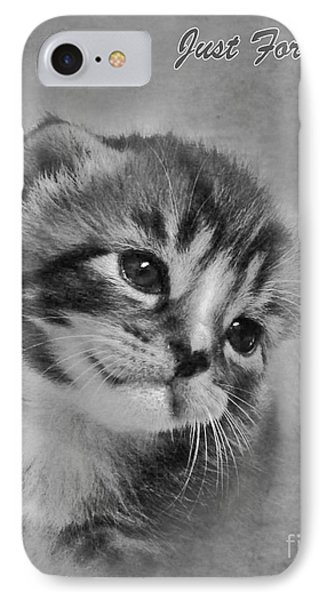 Kitten Just For You IPhone Case by Terri Waters