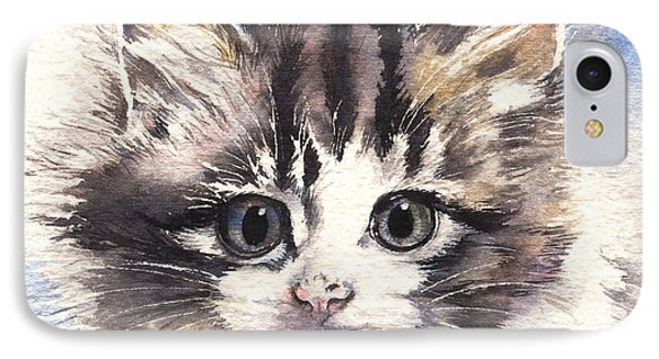 IPhone Case featuring the painting Kitten Lily by Sandra Phryce-Jones