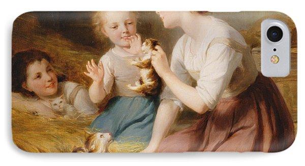 Kittens IPhone Case by Fritz Zuber-Buhler