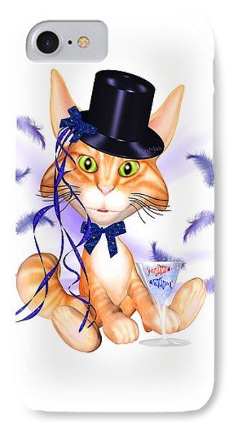 Kitticat Party Design IPhone Case by Renate Janssen