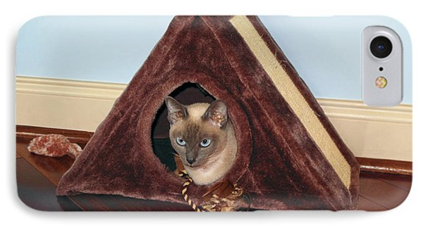 Kitty A-frame Phone Case by Sally Weigand