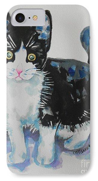 Kitty Phone Case by Chrisann Ellis