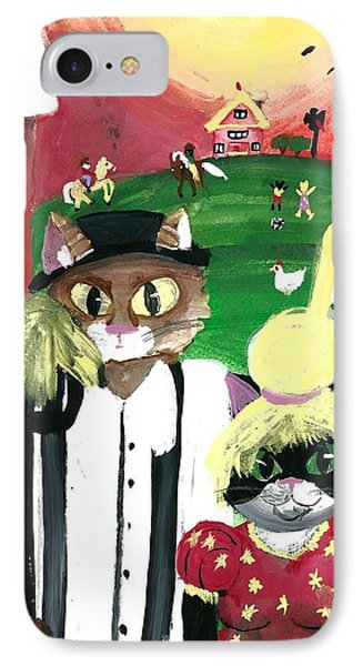 Kitty Farmer IPhone Case by Artists With Autism Inc