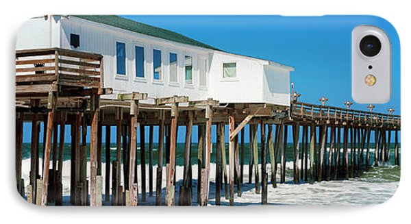 Kitty Hawk Pier On The Beach, Kitty IPhone Case by Panoramic Images