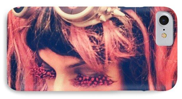 #kitty #hellokitty #steampunk #goggles IPhone Case by Rick Kuperberg Sr