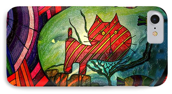 Kitty In A Fish Bowl - Abstract Cat IPhone Case