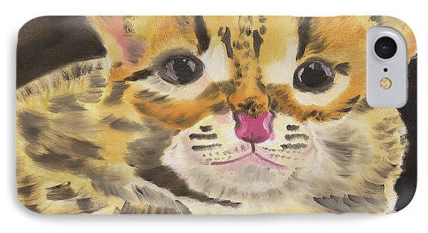 Peek A Boo Kitty IPhone Case by Meryl Goudey