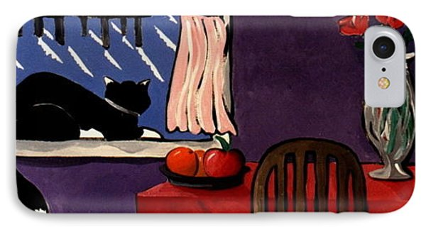 Kitty Over Manhattan IPhone Case by Lance Headlee