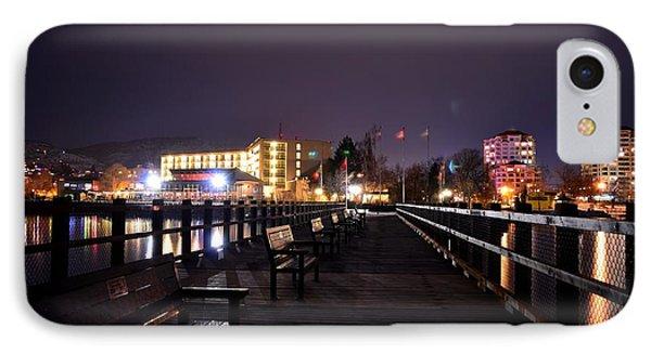 Kiwanis Walking Pier Night IPhone Case by Guy Hoffman