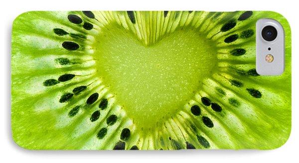 Kiwi iPhone 7 Case - Kiwi Heart by Delphimages Photo Creations