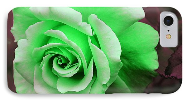 Kiwi Lime Rose Phone Case by Barbara Griffin