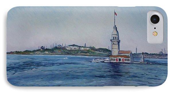 Kiz Kulezi Leander's Tower Istanbul Turkey Phone Case by Enver Larney