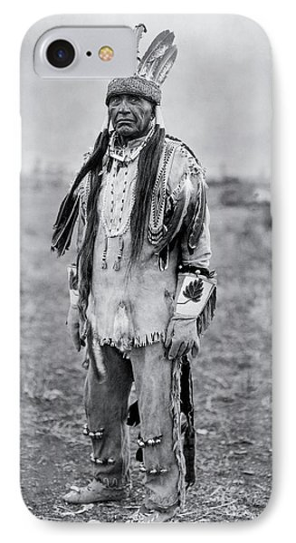 Klamath Indian Man Circa 1923 IPhone Case by Aged Pixel