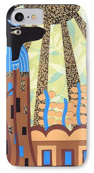 Klimt's Paper Anubis Phone Case by Sarah Durbin