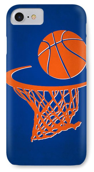 Knicks Team Hoop2 IPhone Case by Joe Hamilton