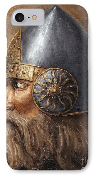 IPhone Case featuring the painting Knight by Arturas Slapsys
