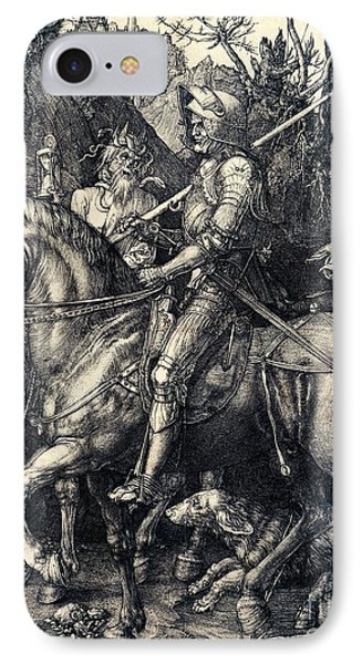 Knight Death And The Devil IPhone Case by Albrecht Durer