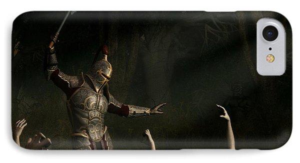 Knight In A Haunted Swamp Phone Case by Daniel Eskridge