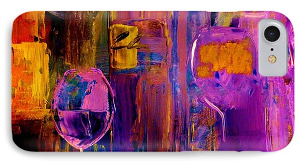 Wine Glass Ice Sculpture IPhone Case by Lisa Kaiser