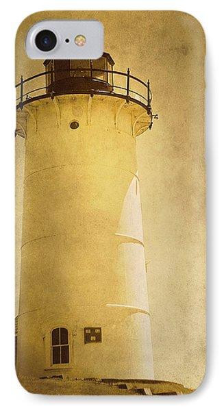 Knobska Point Light Lighthouse Woods Hole Ma Phone Case by Suzanne Powers