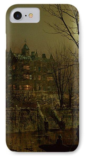 Knostrop Old Hall, Leeds, 1883 IPhone Case by John Atkinson Grimshaw