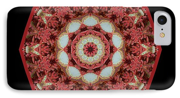 IPhone Case featuring the digital art Knotty Twists Kaleidoscope by Aliceann Carlton