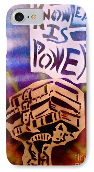 Knowledge Is Power 1 Phone Case by Tony B Conscious