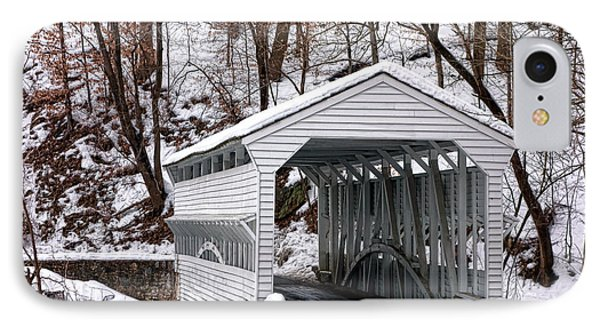 Knox Covered Bridge IPhone Case by Olivier Le Queinec