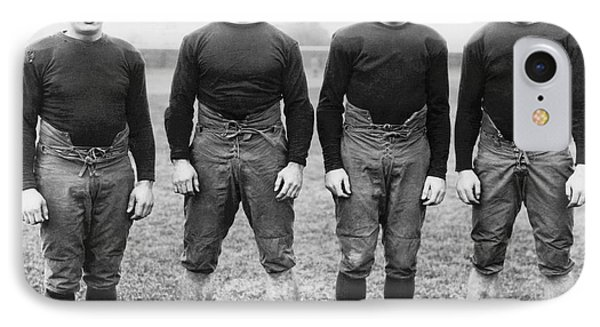 Knute Rockne's Backfield IPhone Case by Underwood Archives