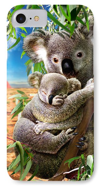Koala And Cub Phone Case by Adrian Chesterman
