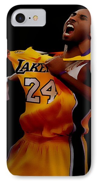 Kobe Bryant Sweet Victory IPhone Case by Brian Reaves