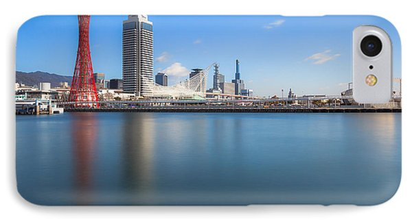 Kobe Port Island Tower IPhone Case by Hayato Matsumoto