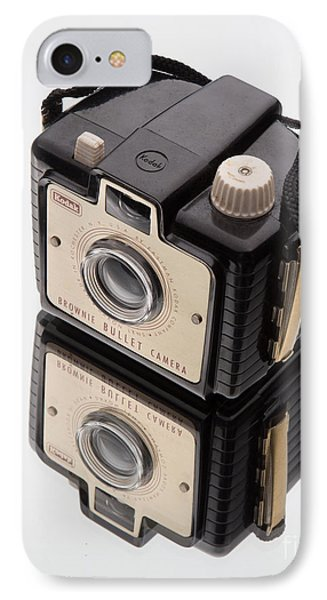 Kodak Brownie Bullet Camera Mirror Image IPhone Case by Edward Fielding