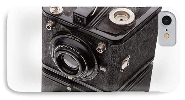 Kodak Brownie Film Camera Mirror Image Phone Case by Edward Fielding